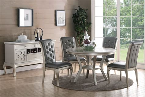 dining set pc  silver tone  boss woptions