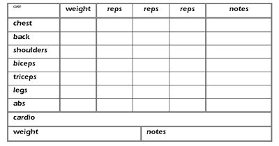 weightlifting cards template templates d i y planner
