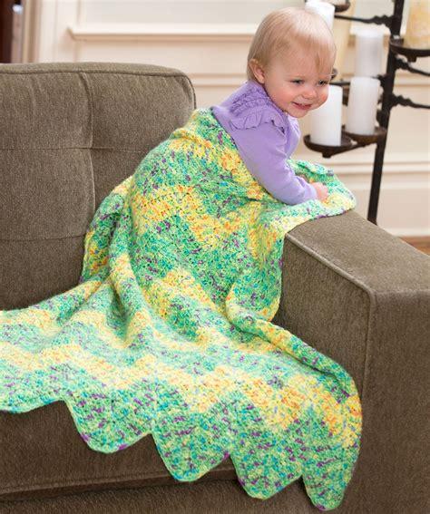 pattern red heart yarn chevron baby blanket free crochet pattern from red heart