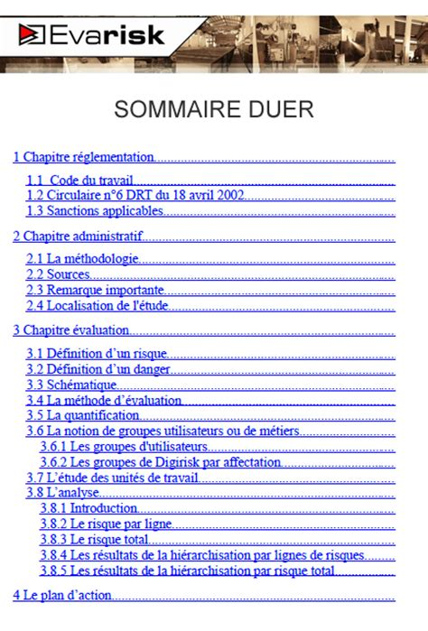 Modèle Document Unique
