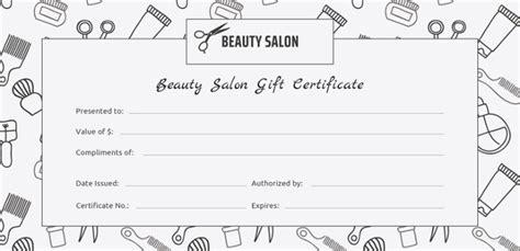 free printable hair salon gift certificate template 155 gift certificate templates free sle exle