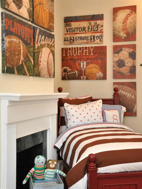 Vintage Sports Bedroom Decor by Boys Sports Bedroom Themes Room Design Ideas