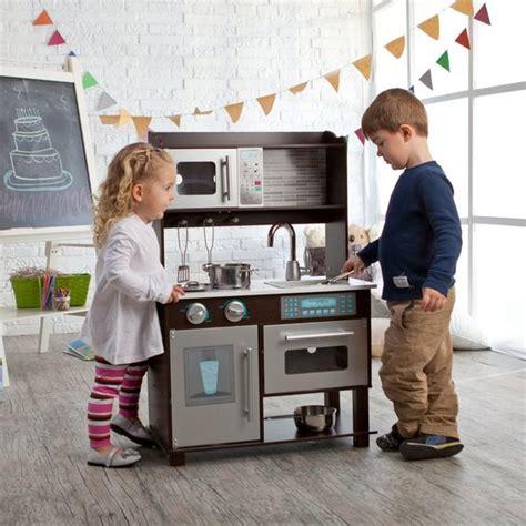 Espresso Play Kitchen Sets kidkraft espresso toddler play kitchen with metal