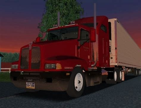 simulator game mod 18 wos haulin kenwort t600 truck simulator games mods download