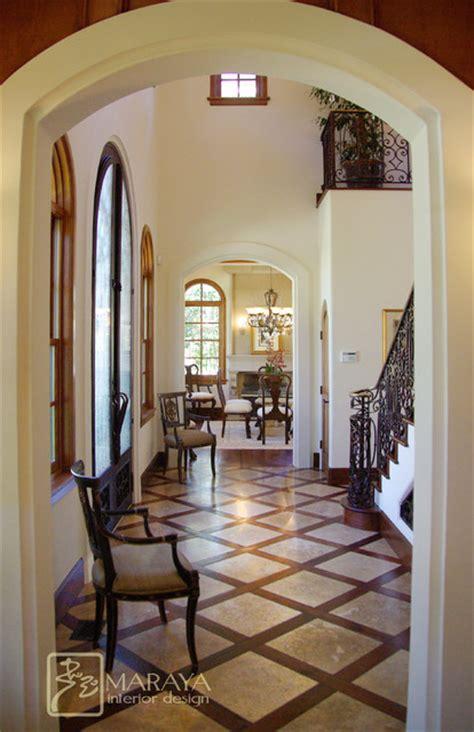 Houzz Dining Rooms by Santa Barbara Entry Hall Mediterranean Entry Santa