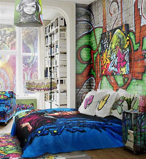 graffiti bedroom accessories 25 cool graffiti wall interior ideas house design and decor