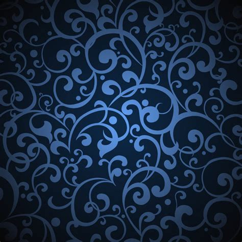 blue pattern background vector dark blue vintage floral pattern background welovesolo