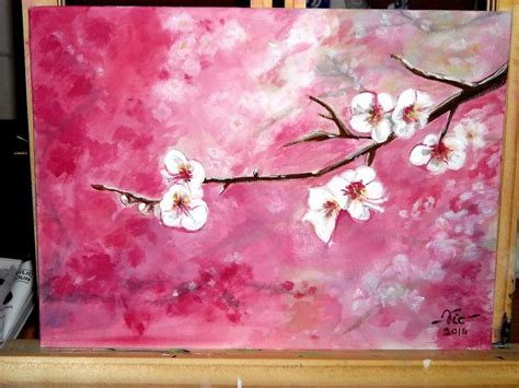 acrylic paint tutorial best 25 cherry blossom images ideas on