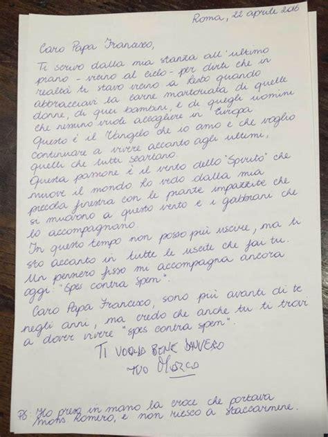 lettere per papa la lettera di pannella a papa francesco famiglia cristiana