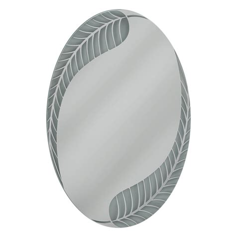 deco mirror mirrors 36 in x 24 in etched geometric wall oval mirror 24x36 bath room vanity bathroom made in usa ebay