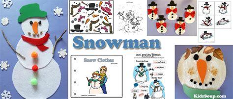 activities crafts snowman crafts activities and printables kidssoup