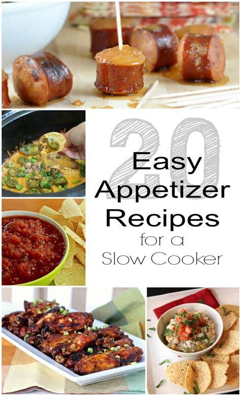 appetizers cooker 20 easy appetizer recipes for a cooker