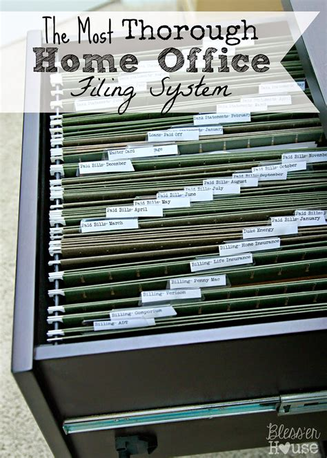 Organizing The Most Thorough Home Office Filing System Home Office Filing Ideas