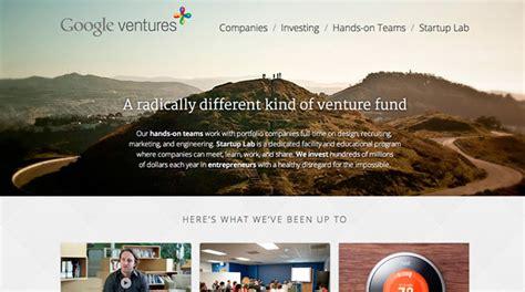 design google ventures 80 creative inspiring single page websites web