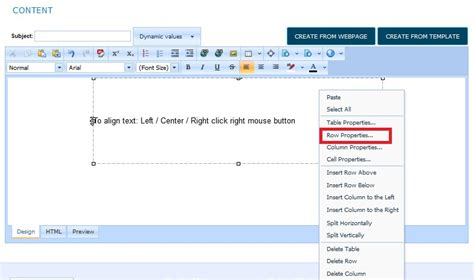 Table Align Center by Create Html Email From Scratch Squizmail Email Marketing