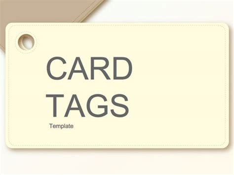 card powerpoint template card tags template