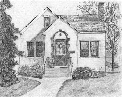 Drawing House by S House Drawing By Sue
