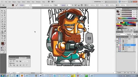 how to design a shirt using adobe illustrator process of photographer t shirt design in adobe