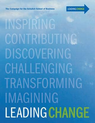 Schulich Mba Brochure by Schulich Leading Change Brochure By Schulich School Of