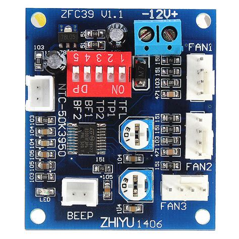 temperature controlled computer fan dc 12v fan temperature speed controller cpu high