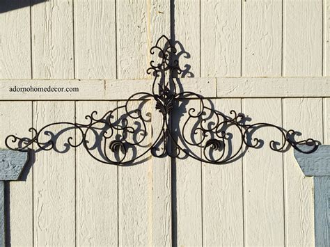 large tuscan wrought iron metal wall decor rustic antique garden indoor outdoor ebay