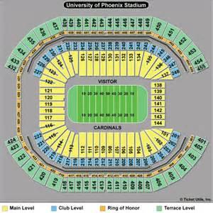 arizona cardinals seating map arizona cardinals tickets 2017 az cardinals tickets