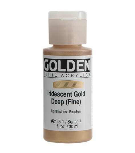 acrylic paint golden golden fluid acrylic paint 1oz iridescent gold jo