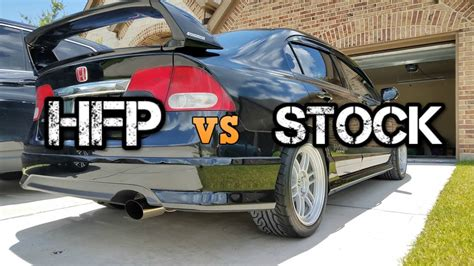 Honda Civic Muffler by 8th Honda Civic Si Stock Muffler Vs Hfp Muffler
