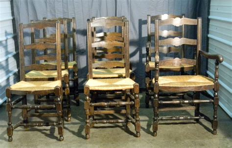 ladder back dining chairs with seats 4 antique ladder back dining chairs with seats