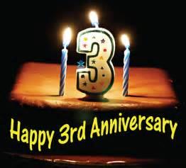 happy anniversary william 3 wonderful years