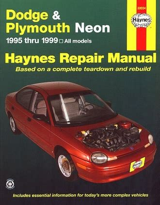 old cars and repair manuals free 1999 dodge dakota club parking system dodge neon plymouth neon repair manual 1995 1999 haynes