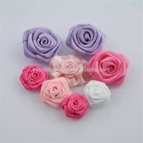 Handmade Ribbon Flowers - wholesale make satin ribbon handmade flowers ribbon