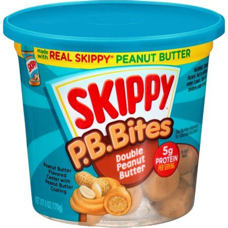 walmart treats skippy p b bites peanut butter snacks 6 oz walmart