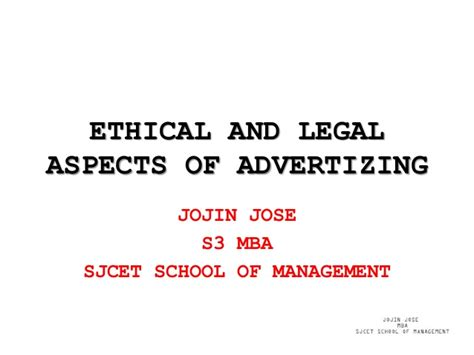 Most Important Aspects Of Mba App by And Ethical Aspects Of Advertizing