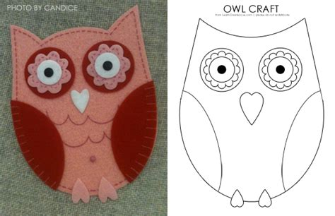 printable owl patterns lovely owl craft