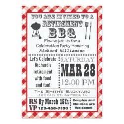 traditional retirement party bbq invitation zazzle
