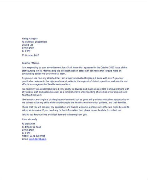 email cover letter for nursing 21 email cover letter exles sles