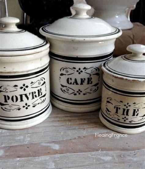 Kitchen Set 3389 fleaingfrance gien canisters 1800 s ceramiche