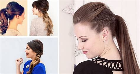Easy Ponytail Hairstyles by 10 Different Stylish And Easy Ponytail Hairstyles