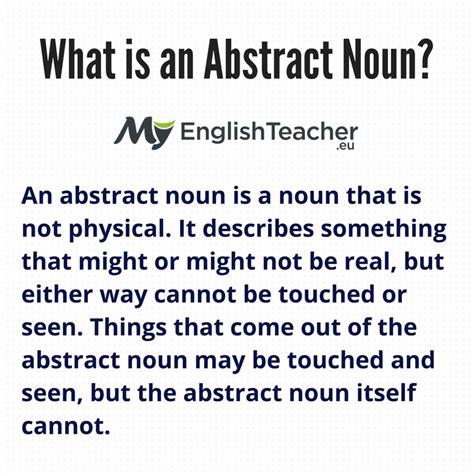 is room a concrete noun what is an abstract noun exles abstract noun list