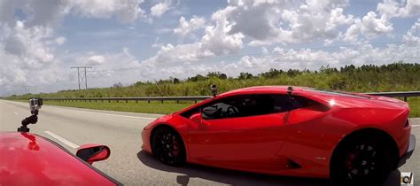 Gt Vs Lamborghini 720 Hp Ford Gt Vs Lamborghini Huracan Drag Race Has Photo