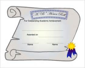 of honor template 10 best images of honor roll certificate template