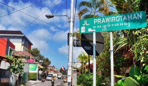 jalan prawirotaman kampung turis internasional  jogja