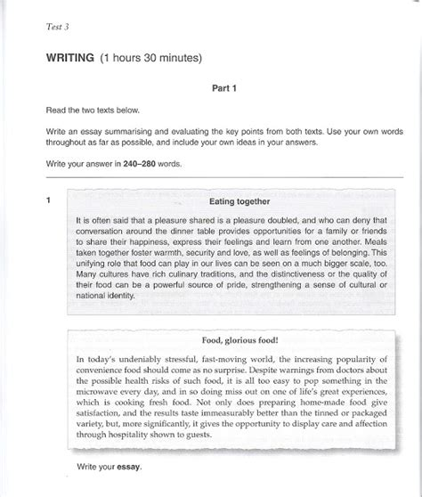Essay Structure Cpe   cpe sle writings learn to write an essay for the