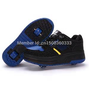 From china high quality heelys skate shoes kids two 2 wheels roller