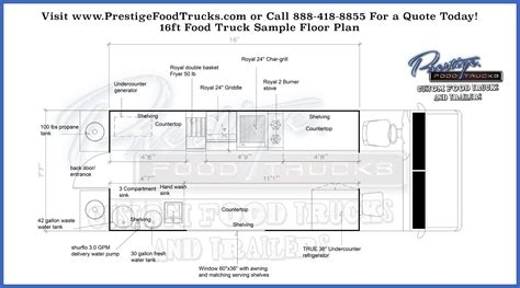 truck cer floor plans custom food truck floor plan sles prestige custom