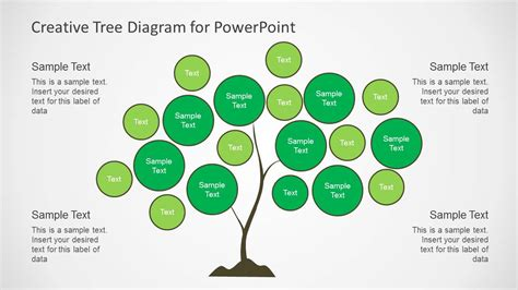 Creative Tree Diagrams For Powerpoint Slidemodel Tree Diagram Powerpoint