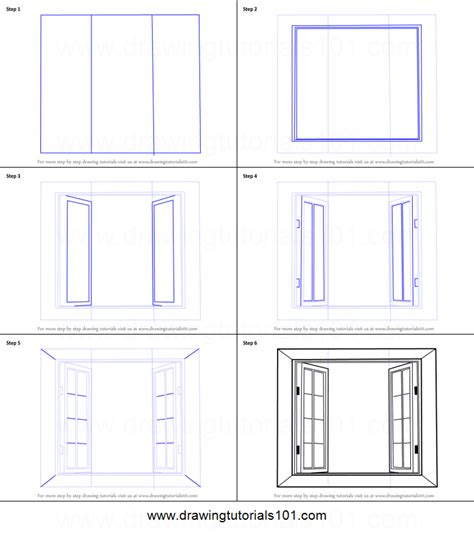 How To Draw On A Window how to draw wooden windows printable step by step drawing