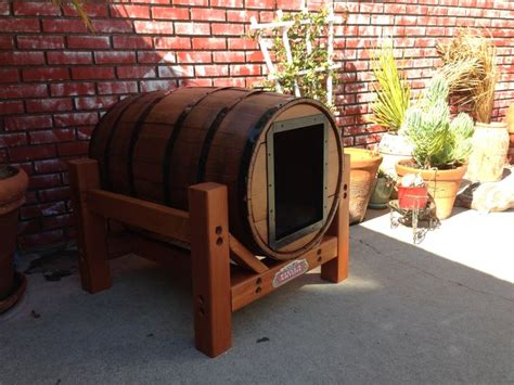 whiskey barrel dog house 25 best ideas about whiskey barrels on pinterest wooden barrel ideas barrels and