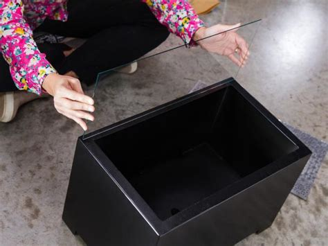 diy glass pit how to make a diy tabletop pit hgtv